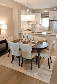 Kitchen Dinning Room, Dining Room Design, Small Dining Rooms, Dining Area, Living Rooms, Kitchen Decor, Design Room, Open Kitchen, Dining Tables