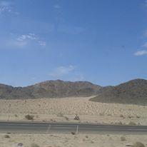 Califórnia/Nevada Road Estrada no Deserto à caminho de Las Vegas