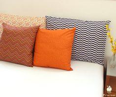Uma combinação de fronhas e almofadas para deixar o quarto lindo!!