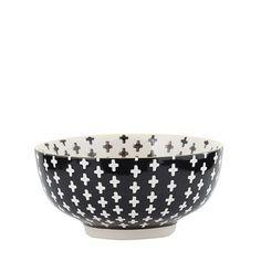 General Eclectic Cross Large Bowl - Black
