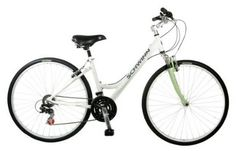 Yes another cool bike - this one's a ladies hybrid by schwinn. Nice in bright white