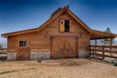 Dream Stables, Dream Barn, Small Barns, Old Barns, Barn House Plans, Barn Plans, Backyard Barn, Horse Shelter, Barn Shop