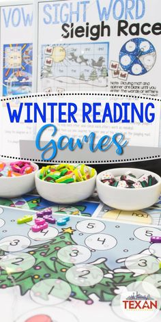 Create a literacy center wonderland with winter reading activities! These frosty literacy center games are perfect for centers in Kindergarten and some First Grade classrooms. Rhyming, syllables, sight words, medial vowel sounds, and beginning sounds are all included!