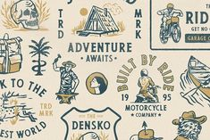 Outdoor Badge Logo and Illustrations by Megflags on @creativemarket