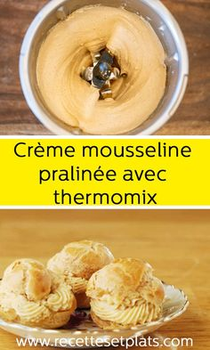 Creme Dessert Thermomix, Thermomix Desserts, Paris Brest, Vegan Ice Cream, Personal Chef, Cooking Chef, Food Hacks, Food And Drink, Sweets