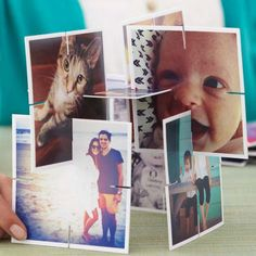 Freestanding Photo Collage - Give Mom a fun trip down memory lane with this freestanding collage you can make in minutes.