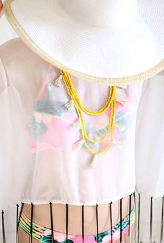DIY Necklace Ideas - Tassel Fringe Trim Necklace - Pendant, Beads, Statement, Choker, Layered Boho, Chain and Simple Looks - Creative Jewlery Making Ideas for Women and Teens, Girls - Crafts and Cool Fashion Ideas for Teenagers http://diyprojectsforteens.com/diy-necklaces