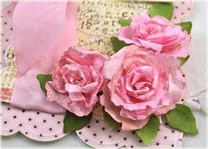 flowers and leaves die cut from coffee filters -- by Debbie