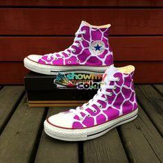 bc6605647bfc46 Women Men Converse All Star Sneakers Purple Giraffe Print Original Design  Hand Painted Canvas Shoes Custom High Top Sneakers-in Skateboarding from  Sports ...