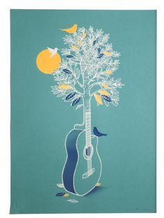 Print Club London | shop | tree_guitar