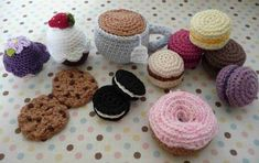 crocheted tea party