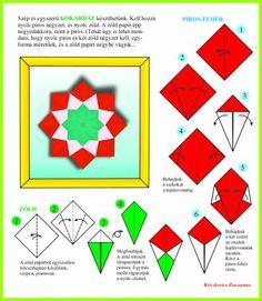 Origami egyszerűen - Képgaléria - Diagrammok - Nemzeti ünnepünkre- National Holiday 15th March - Óvodás kokárda