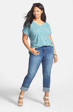 5 ways to combine plus size cropped jeans in spring