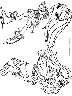 bratz color page cartoon characters coloring pages color plate coloring sheetprintable coloring picture 2 color bratz pinterest kids cartoon - Bratz Coloring Book
