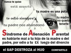 SAP: Síndrome de Alineación Parental