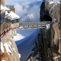 du Midiin Chamonix, the highest point in Europe on Pixdaus by jchip - won't catch me on that bridge!