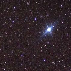 The second brightest star in the sky, Canopus. It's a blue-white supergiant star in the Southern constellation of Carina, and is extremely bright at about 13,300 times the luminosity of our Sun.