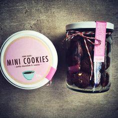 Double Chocolate & Nut Mini Cookies Granola, Nut Mini, Mini Cookies, Cupcakes, Chocolate, Baking, Gourmet, Food Cakes, Deserts