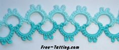 Bicolor Lace .... extremely simple 2-shuttle pattern : All Chains - 2 p 5 p 2 p 5 p 2