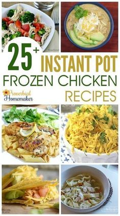 LOVE this roundup of 25 Instant Pot Frozen Chicken Recipes! Perfect for the busy night and last-minute meals. via You will just LOVE this roundup of 25 Instant Pot Frozen Chicken Recipes! Perfect for the busy night and last-minute meals. Best Instant Pot Recipe, Instant Pot Dinner Recipes, Instant Recipes, Recipes Dinner, Restaurant Recipes, Breakfast Recipes, Frozen Chicken Recipes, Crockpot Frozen Chicken, Frozen Chicken Recipe Instant Pot