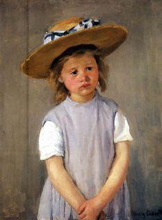 Mary Cassat - Child in a straw hat
