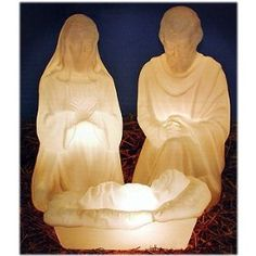 Lighted Plastic Nativity Scenes  Full Dimensional Colored Resin Sculptures  Lighted for Outdoor Use     MADE IN THE U.S.A.
