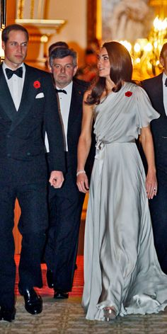 NOVEMBER 10, 2011 The Duchess chose a one-shoulder chiffon and satin dress by British designer Jenny Packham for the National Memorial Arboretum Appeal reception at St. James Palace.