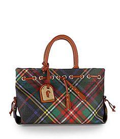 bdd68119d2dd Dooney and Bourke Tassel Plaid Tote Bag  Dillards Scottish Plaid