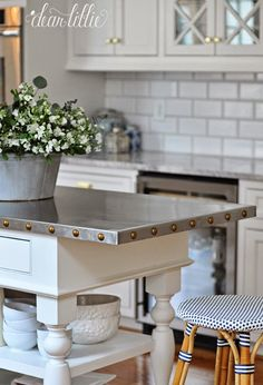 A Classic and Timeless White Kitchen  by Dear Lillie