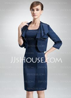 Mother of the Bride Dresses - $118.99 - Sheath Square Neckline Knee-Length Satin Mother of the Bride Dress (008006399) http://jjshouse.com/Sheath-Square-Neckline-Knee-Length-Satin-Mother-Of-The-Bride-Dress-008006399-g6399