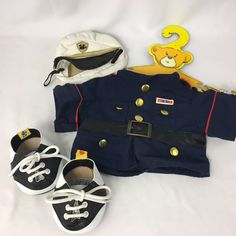 Build a Bear Clothing Military U.S. Marine Corps Uniform Blue Coat Hat Shoes #BuildABearWorkshop #AllOccasion