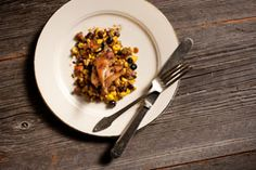 QUAIL WITH AUTUMN SUCCOTASH This quail and succotash dish was prepared ...