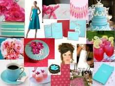 Tiffany Blue & Hot Pink. Mood: Sickly Sweet Soiree. The Perfect Palette.