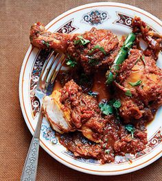 "Chicken and Onion Curry Recipe - Saveur.com (Chicken Dopiaza)   Sweet Walla Walla onions are ideal for this Indian dish. The word dopiaza, which means ""onions twice"" in Urdu, refers to the large quantity of onions that's usually used in this style of curry."