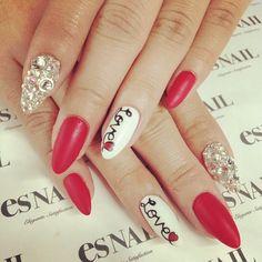 VALENTINE by esnail_la #nail #nails #nailart