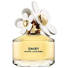 I have a couple of choices of fragrances on my vanity table, but DAISY Marc Jacobs is what I usually go for.  I'm pretty sure that my roommate and I went through half a bottle in one semester alone!  The bottle is adorable, and the scent has a nice touch of violet.