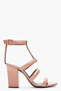 Alexander Wang Tan Leather Lux Anjelika Heeled Sandals -- these look better in person.