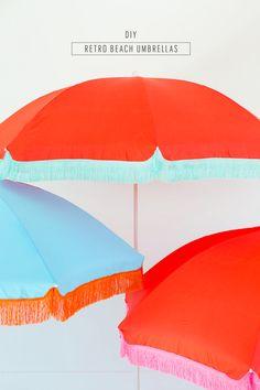 DIY Retro Beach Umbrella | Sugar & Cloth
