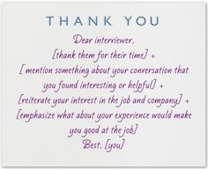 What to write in a thank you note after an interivew