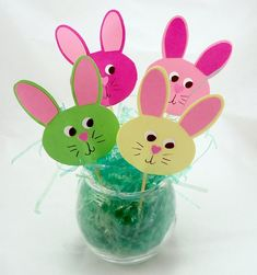 Pieces Of Me Scrapbooking & Paper Crafts: Easter Bunny Cupcake Toppers throughout Easter Bunny Paper Crafts