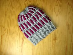 How to Loom Knit a Two-Tone Striped Hat (DIY Tutorial)