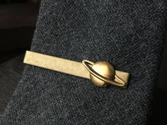 Gift Ideas for Geeks  Saturn Planet Tie Clip  Mens Stocking