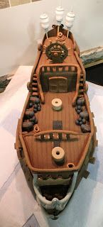 El Laboratorio de las Tartas: Tartas Decoradas Madrid: Tarta Piratas del Caribe : La Perla Negra - Pirates of the Caribbean Black Pearl cake