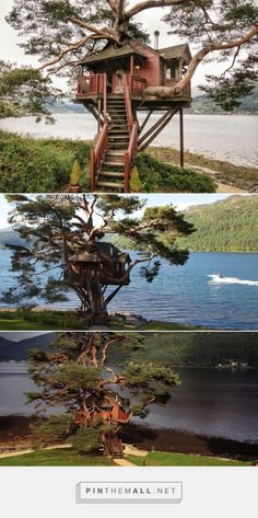 Treehouse at the Lodge in Loch Goil, Scotland - created via https://pinthemall.net