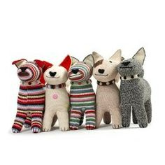 Crocheted by Anne Claire Petit..  PUPPIES!