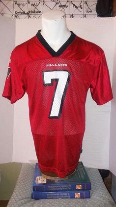 Kids Vintage Michael Vick Atlanta Falcons RED Reebok Youth Jersey XL 18-20 #Reebok #AtlantaFalcons