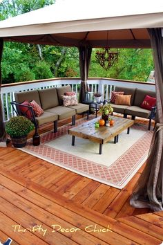 stained and painted deck