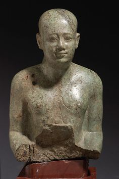 A devotee of the god Onouris -   300 BC (early Ptolemaic). Louvre Museum