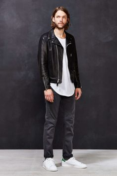 Schott X UO Pebbled Leather Perfecto Jacket - Urban Outfitters