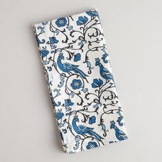 One of my favorite discoveries at WorldMarket.com: Blue Paloma Napkins, Set of 4
